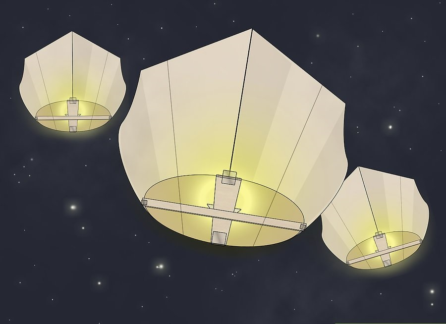 how to make a mini hot air balloon without fire