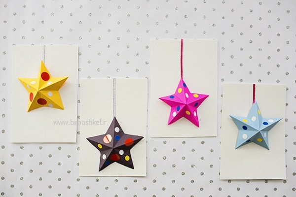 ۀموزش ساختن ستاره کاغذی