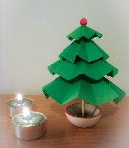 درخت کریسمس کاغذی بسازیم