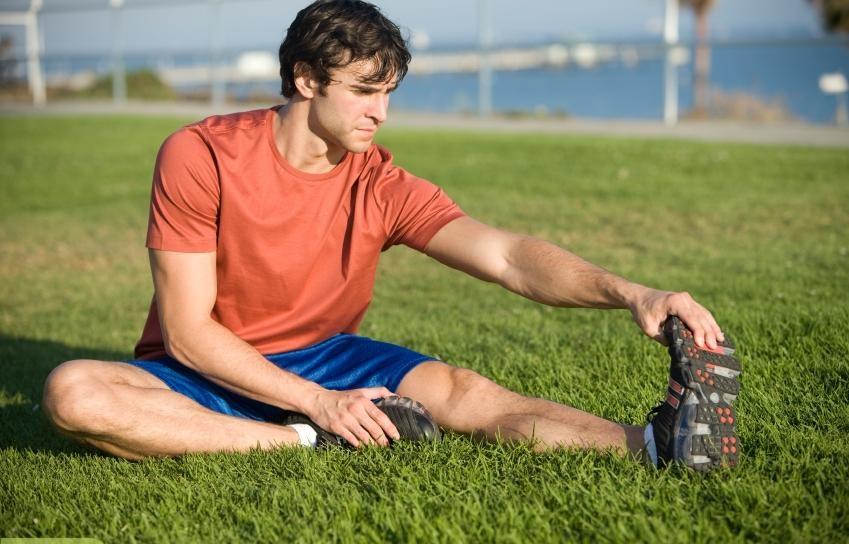 گرم کردن بدن در بازی فوتبال