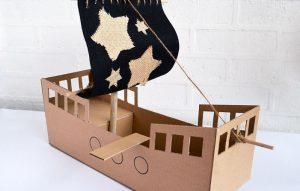 ساخت کشتی بادبانی با مقوا