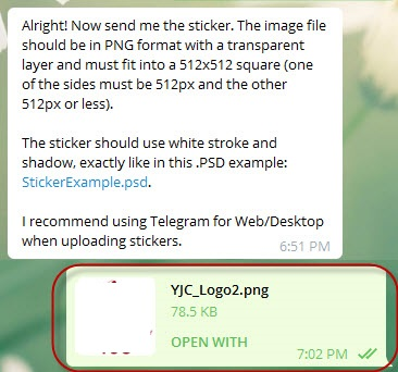 نحوه ساختن استیکر تلگرام