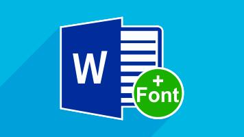 افزودن فونت جدید به Microsoft Word