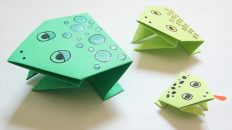 چگونه یک قورباغه کاغذی یا قورباغه اوریگامی بسازیم ؟