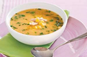 سوپ روغن کنجد و مرغ