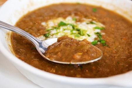 سوپ برنج و عدس