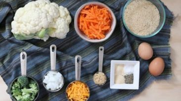 مواد لازم برای ناگت سبزیجات