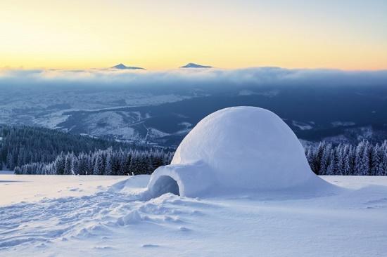 ساخت خانه برفی و اسکیمویی