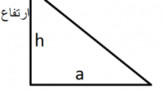 مساحت مثلث چگونه بدست می آید