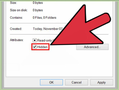 پنهان کردن فایل شما